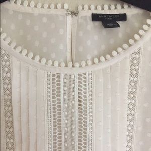 White Lace Ann Taylor Blouse